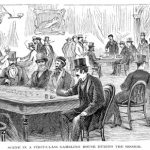 Engraving of a casino in Washington D.C. Source - 'Behind the Scenes in Washington' published in USA in 1873.